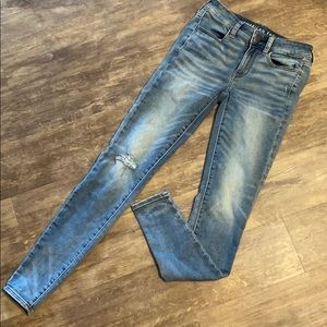 American eagle super stretch skinny jeans sz 2